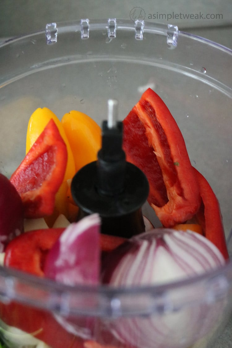 garlic-onion-and-peppers. Place ingredients in food processor