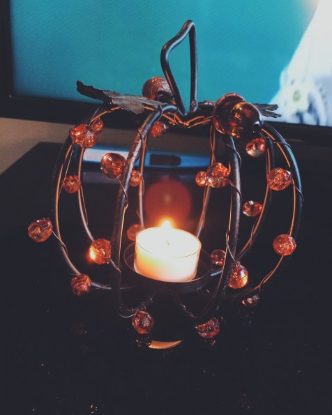 Pumpkin candle holder from Michael's