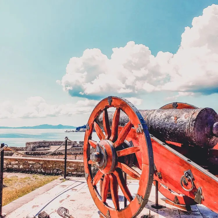 Cannon at the Old Fortress Corfu