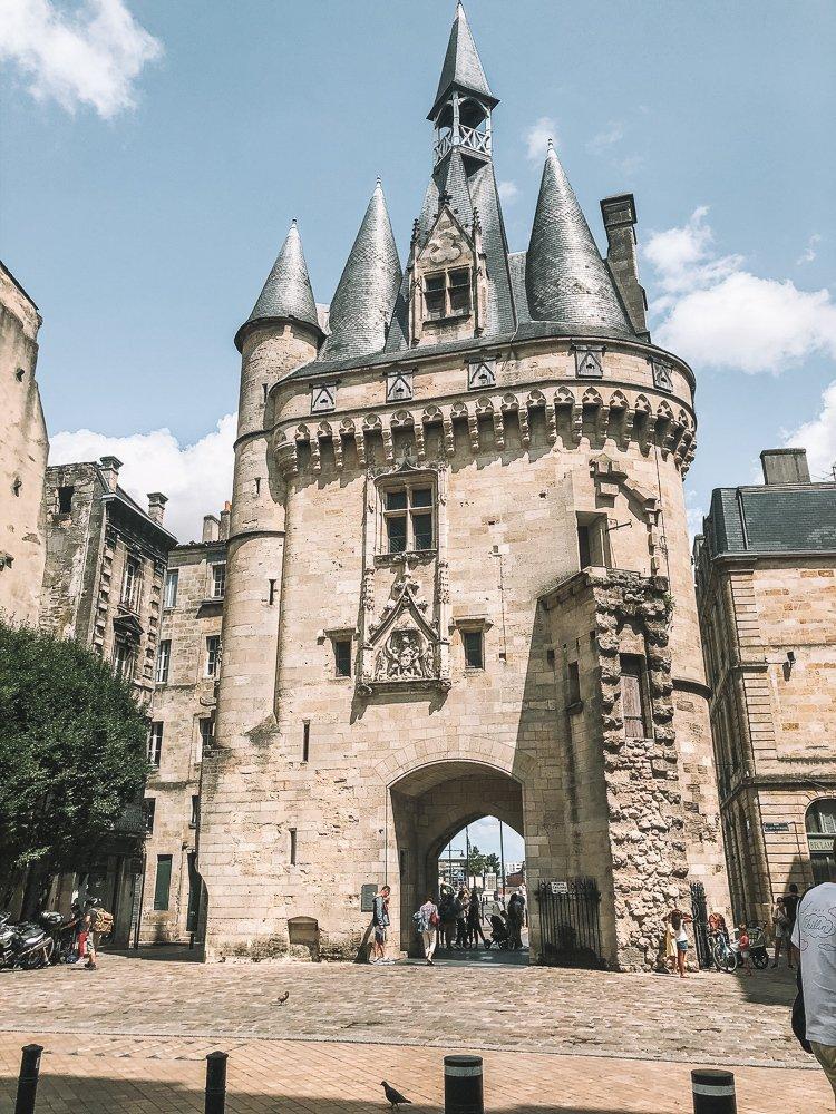 Old city gates in Bordeaux, France