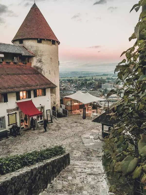 Sunset at Bled Castle