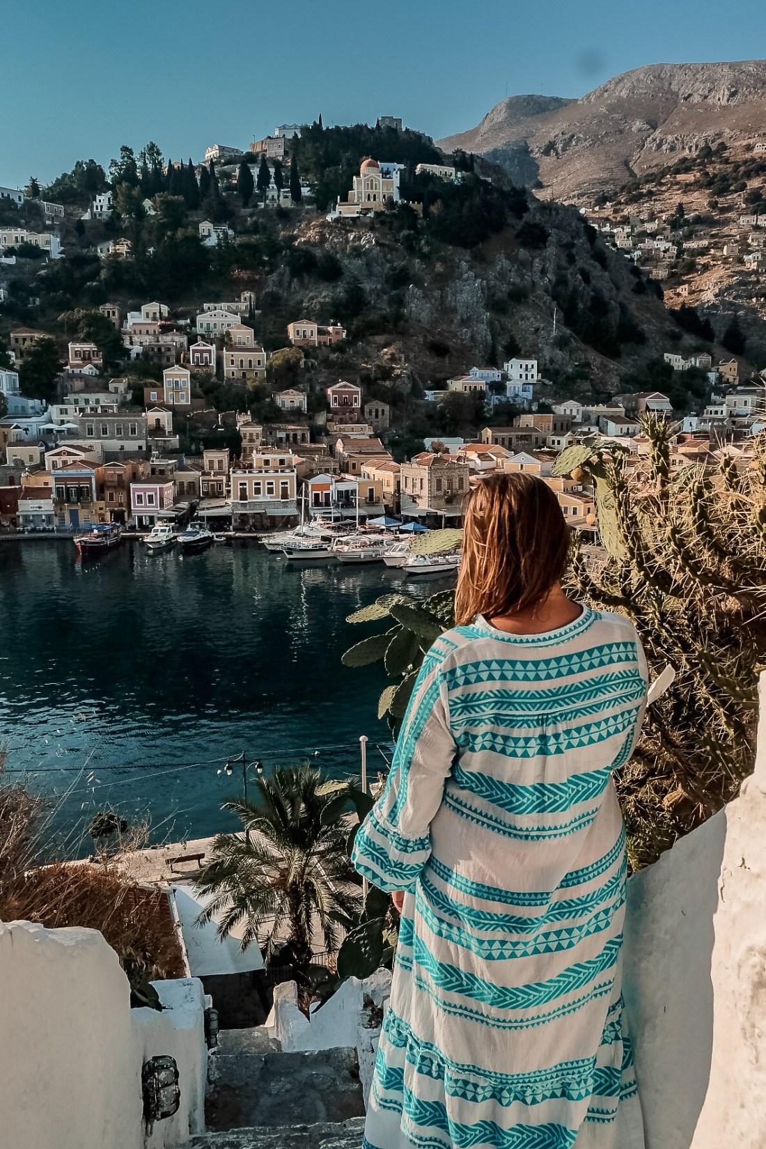 A Solo Woman traveling in Symi, Greece