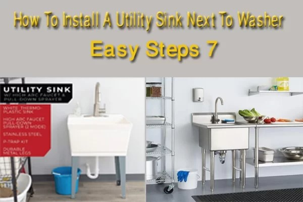 how to install a utility sink next to