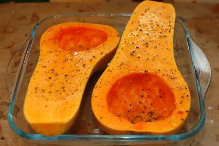 Experimentos culinarios: calabaza rellena (1/3)