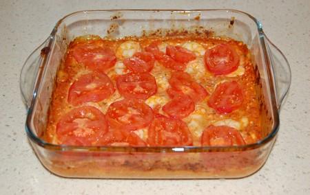 Gambas al horno con queso feta (Garithes Youvetsi)