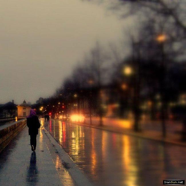 عکس غروب بارانی