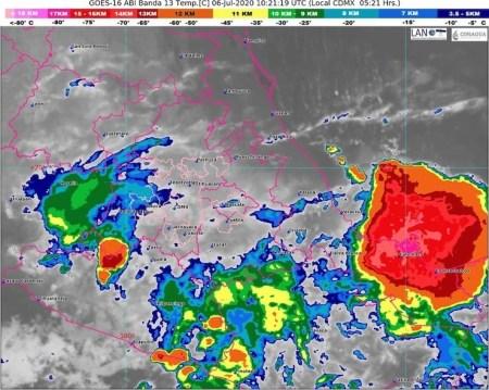 clima Toluca lunes 6 julio