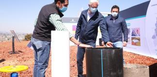 Recorre mandatario estatal Alfredo Del Mazo la obra que busca abastecer con agua de calidad y en cantidad suficiente, a las personas que viven en esta delegación de la capital mexiquense