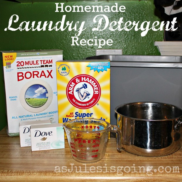 Homemade Laundry Detergent Recipe {adapted from the Duggars for sensitive skin}