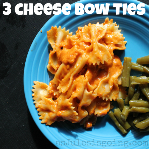 3 cheese bow tie yumminess