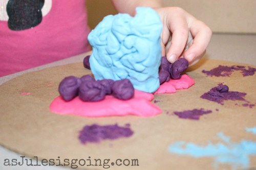 playdough birthday cake