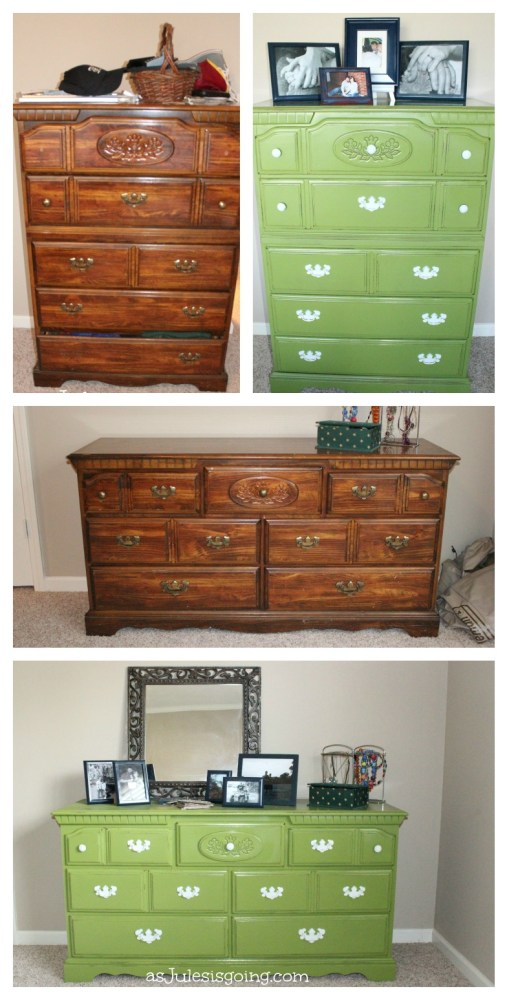 Before and After pics of Master Bedroom furniture makeover
