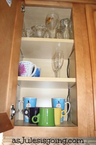 Glassware and Mug Cabinet