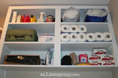 The Laundry storage shelves