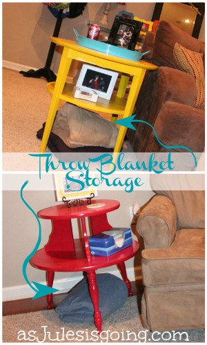 Throw Blanket Storage