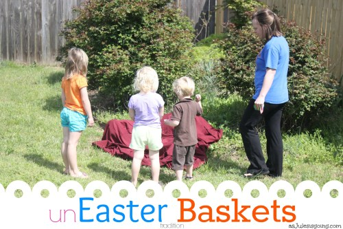 Start an unEaster Basket tradition with your kids celebrating the real meaning of Easter while being purposeful with gift giving