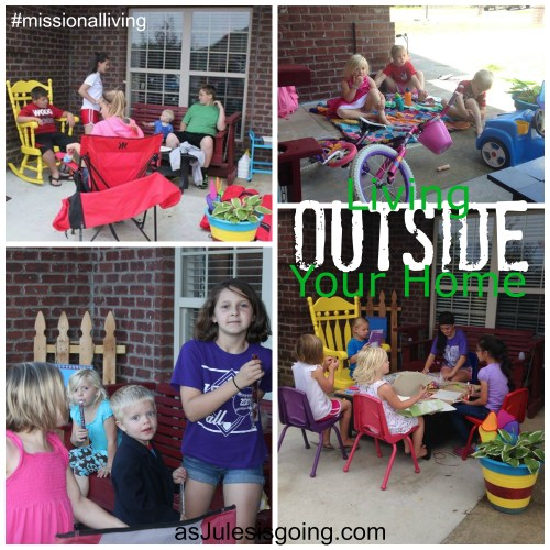 Living OUTSIDE Your Home {furniture} #missionalliving