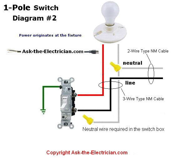 single pole switch diagram 2