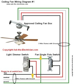 Ceiling Fan Wiring Diagram #1