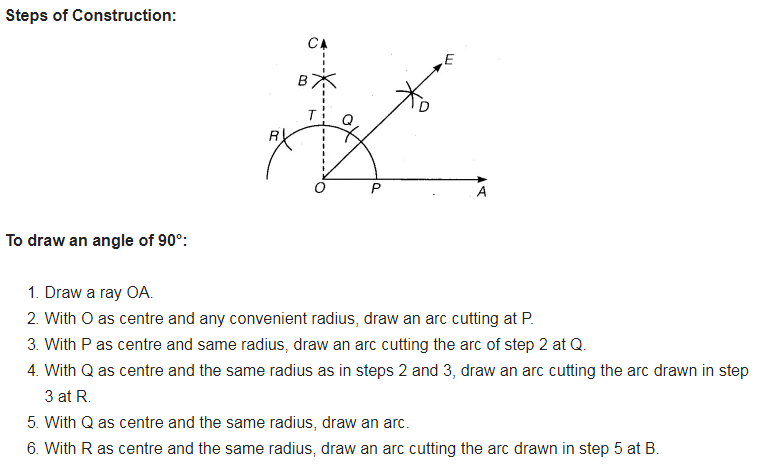 draw a right angle and construct its