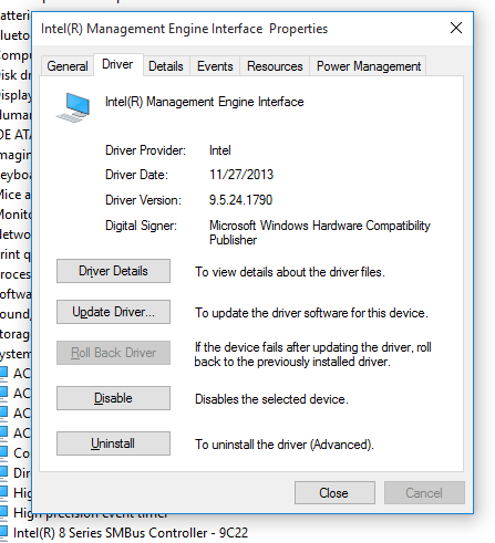 Intel-management-engine-interface-v9.5