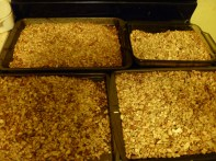 Remove from oven when golden brown, let cool before packing