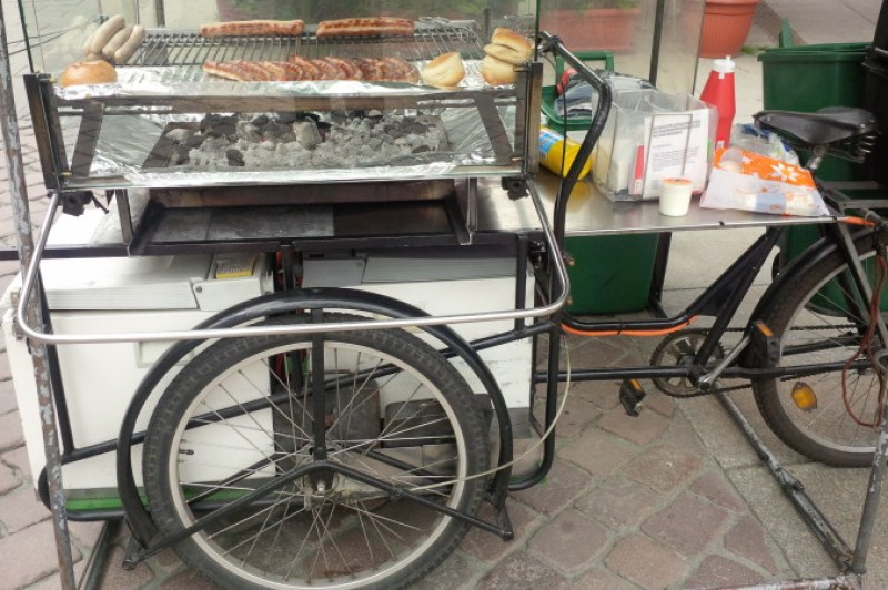 BBQ on a bike for Bratwurst