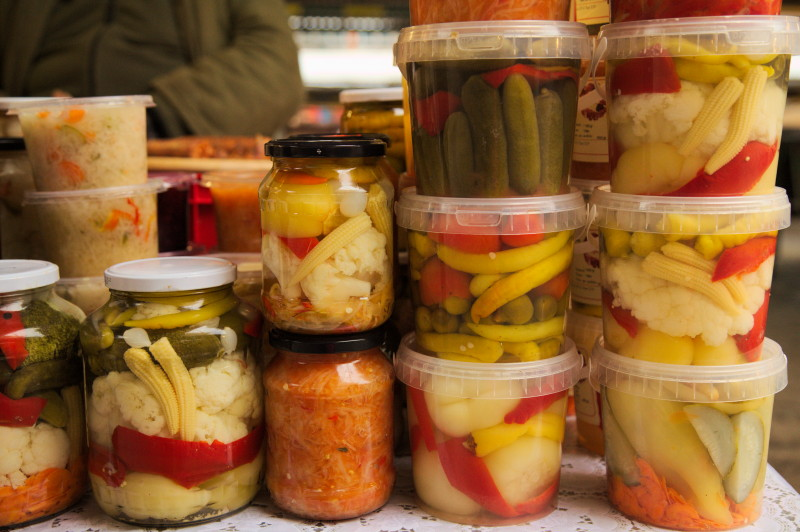 Colourful pickles