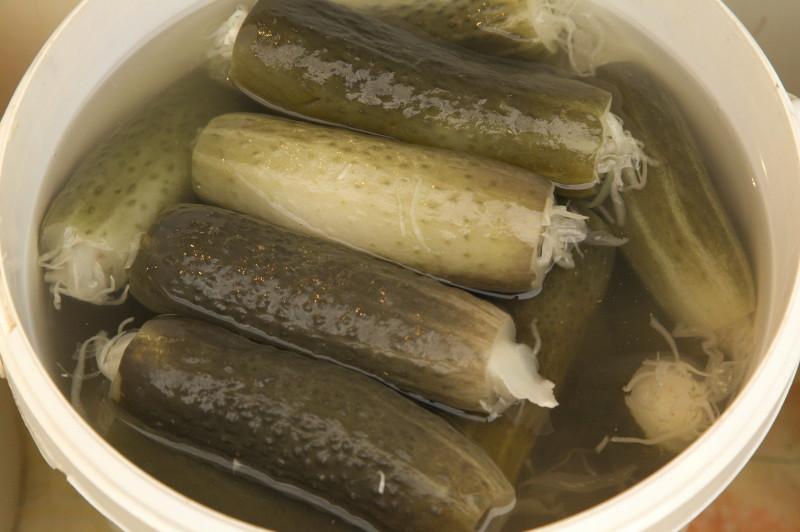 Stuffed pickled cucumbers