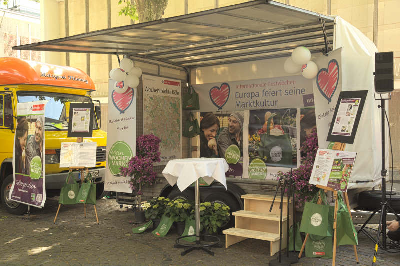 The Love Your Local Market event stage