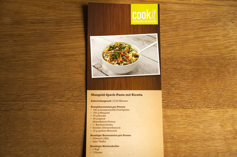 A recipe card comes with each purchase