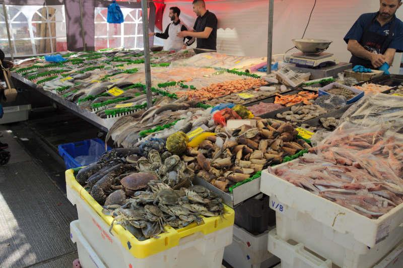 Fish & seafood stall