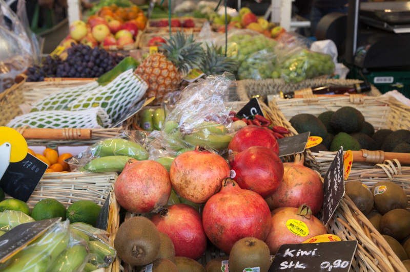 The exotic fruit section