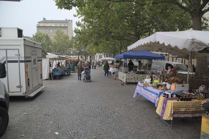 An aisle of the Luxembourg market