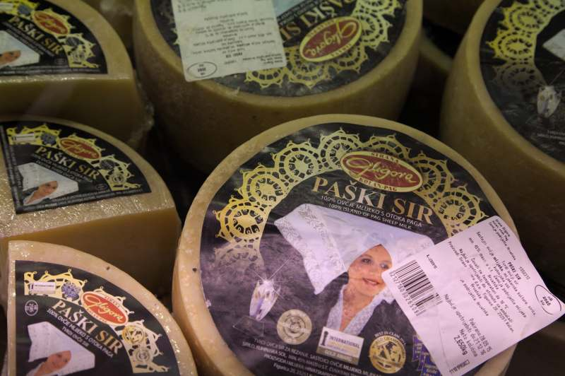 The award winning sheep cheese of the island of Pag