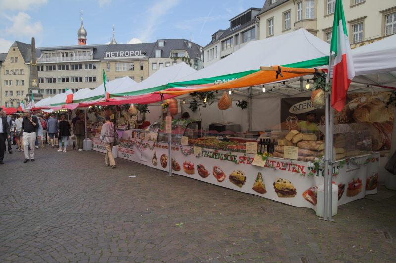 The Italian theme market in Bonn