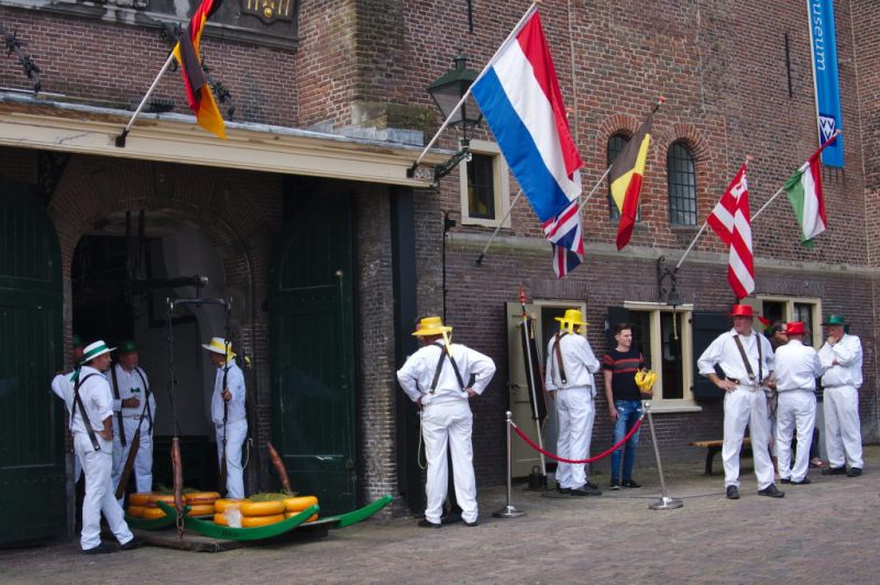 The weigh house at Alkmaar Cheese Market