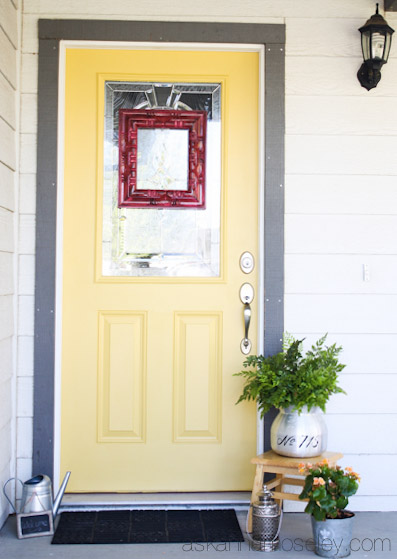 Paint Front Yellow Colors Door