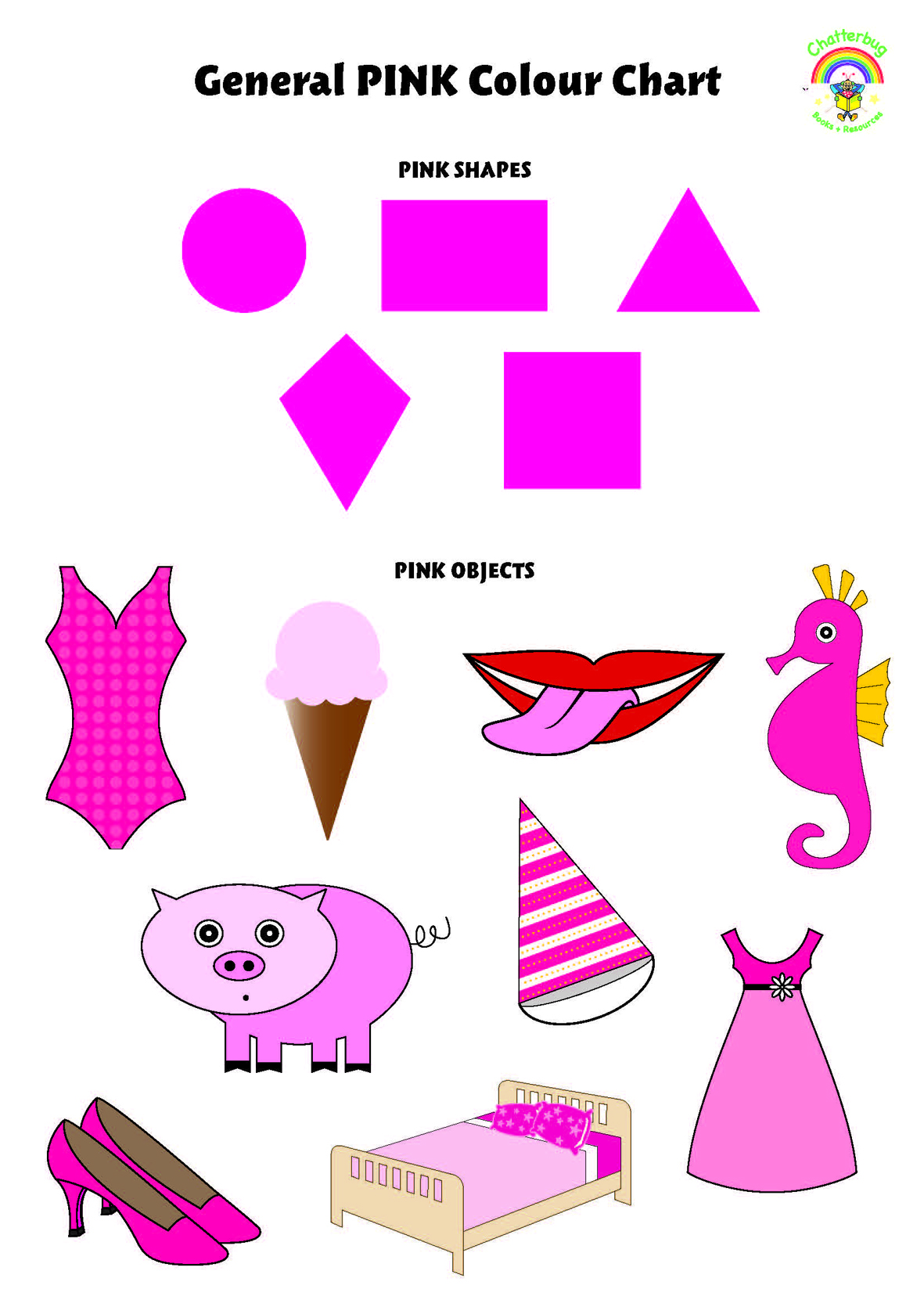 Pink Colour Chart