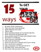 Get your geek on