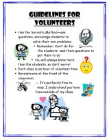 guidelines for volunteers