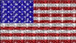 USA flag with sparkles