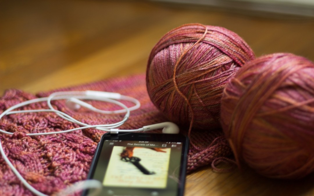 Knitting, listening, and pondering
