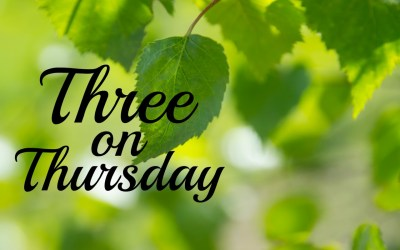 Three on Thursday | 5.22.19