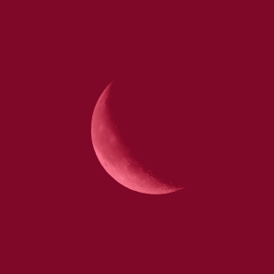 Sickle Cell disease image of a crescent or sickle moon