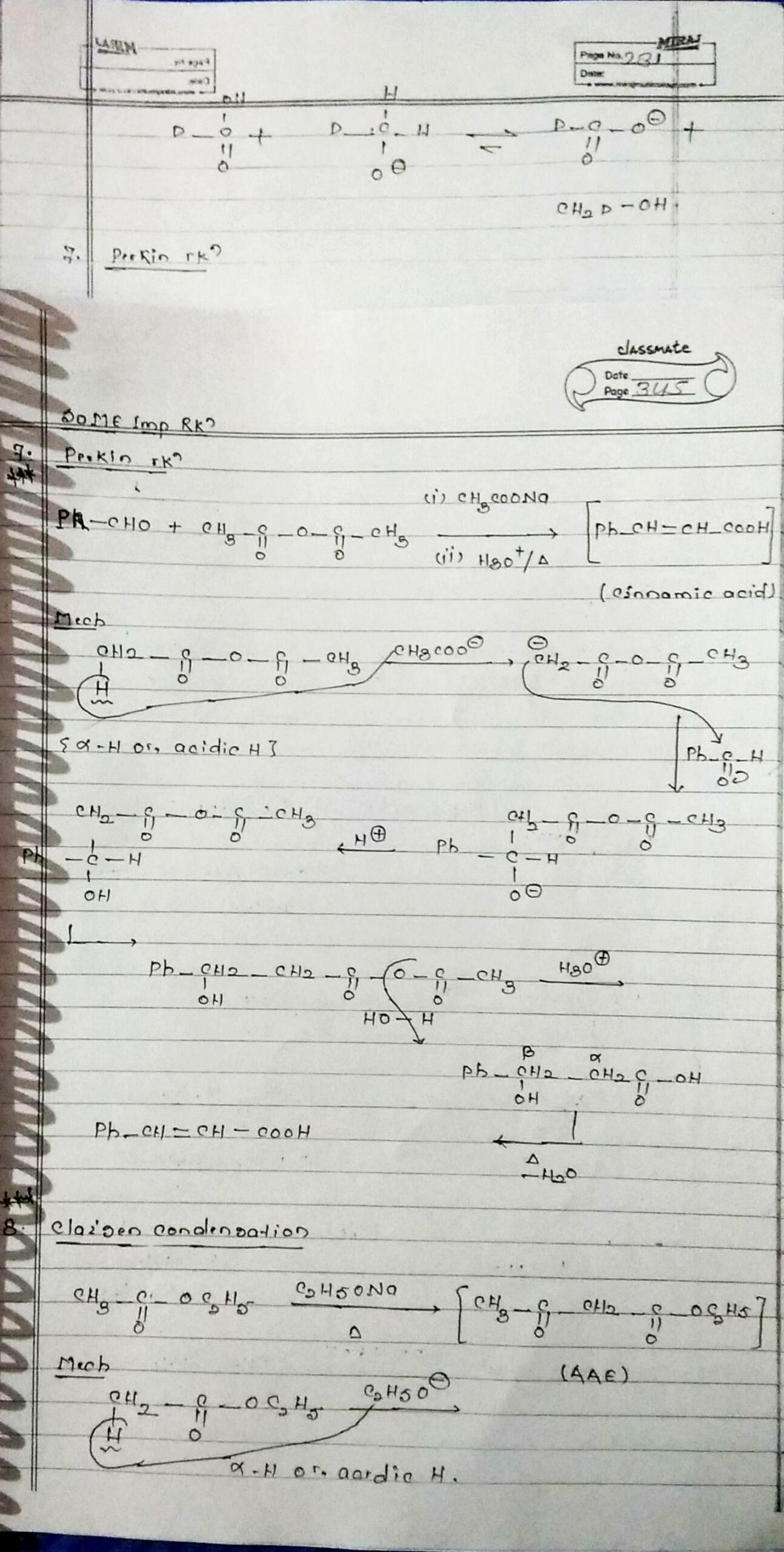 Organic Chemistry Special Reactions Part 2 1