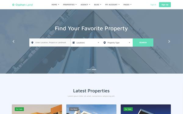Osahan Land - Bootstrap 4 Light Real Estate Theme