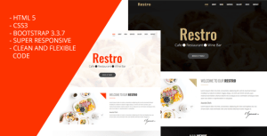Restro - Responsive Restaurant Template