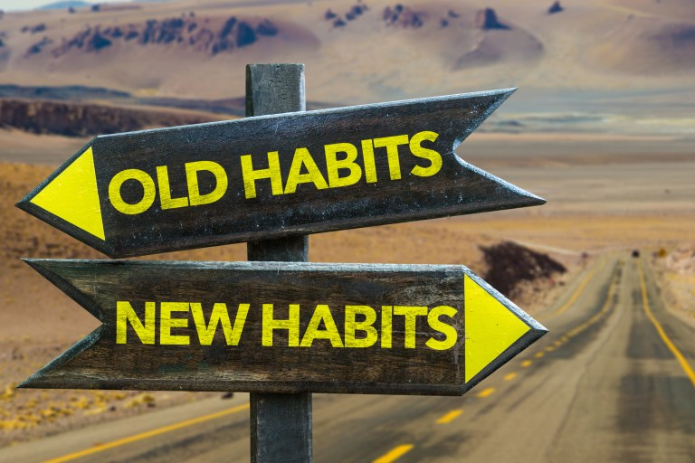 Throw out your bad habits and build some new, healthy habits.