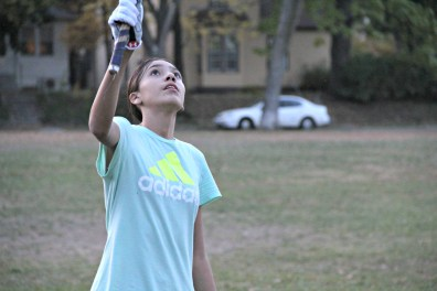 Nina Polk practices traditional lacrosse on Oct. 20, 2015, at Corcoran Park in Minneapolis.